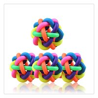 Wholesale Toys For Dogs Interactive Wholesale - Wholesale Pet Supplies Rubber Balls Braided Rope Balls Chew Knot Toy Dog Cat Toy For Puppy Medium Large Dog Playing Chewing Free DHL