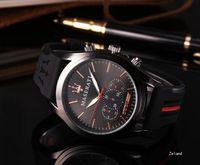 Wholesale men army waterproof quartz watch resale online - Gift Men Gold Silicone Watches Quartz Watch Analog Waterproof Sports Army Military WristWatch