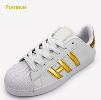 Wholesale mahogany ship models - 2017 classic models Men's Women's Shoes White Shoe Laser Dazzle Colour Superstar Shell Head Sneakers, Free Shipping.