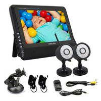 Wholesale 7 quot TFT LCD G CH Wireless DVR Security System Monitor Night Vision Cameras