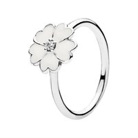 stackable ring sets - Primrose Stackable Ring White Enamel Engagement Rings Factory EN12