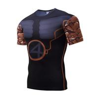 ingrosso pietre all'aria aperta-2017 nuovi uomini collant a maniche corte in pietra Lycra asciugatura rapida T-shirt sport all'aria aperta abbigliamento fitness