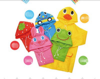Wholesale Linda Funny Rain Coat Kids - 5 Color Linda Funny Rain Coat Kids Children Raincoat Rainwear Rainsuit Kids Waterproof Animal RaincoatHOT