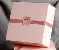 fırın kupası toptan satış-Ücretsiz Kargo Pembe Kek Kutusu Parti Cupcake Hediye Ekmek Maccaron Pasta Kurabiye Ambalaj Kağıt Kutular