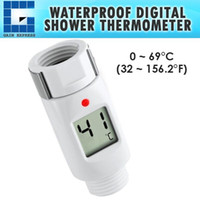 Barato Chuveiro Digital De Luz-03100 Waterproof Digital Shower Head Water Thermometer com Alarme Alerta LED Light