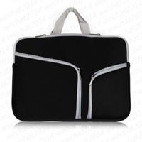 Wholesale apple macbook pro air bag online - 100PCS Soft Zipper Liner Sleeve Hand Bag Case Cover for Apple Macbook Air Pro quot quot