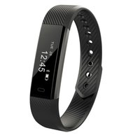 Atacado- ID115 Bracelete Smart Fitness Tracker Passômetro Sleep Monitor Track Smart Band Relógio Despertador Passo Contador Fitness