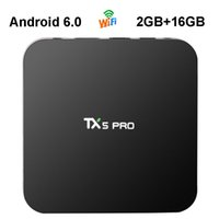 Wholesale Top 3d Media Player - Android 6.0 Smart TV Box Amlogic S905X Quad Core 2GB 16GB TX5 Pro Mini PC Wifi 4K 3D Streaming Media Player VS TX3 Pro T95K Set Top Box
