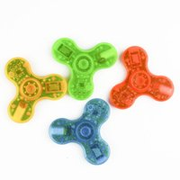 Wholesale Big Toys Meter - LED bluetooth music Fidget Spinner For 10 Meters Clear Color Hand Spinners Spinning Top Decompression Fingers Toy in stock LEDB05