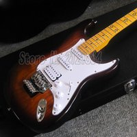 Китайский ST Гитары Электрический Sunburst Body Maple Fingerboard Star Inlay Custom Factory Shop
