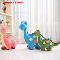 Wholesale Dinosaur Dragon - Cartoon Dinosaur small Sitting High 20cm 25cm Plush Dragon Soft Animal Stuffed Toy For Baby Kids Children Gift Good Quality
