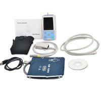 Wholesale Blood Pressure 24 Hours - DHL fast ship PM50 TFT Portable 24 hours USB Ambulatory Automatic Blood Pressure Oxygen NIBP PR SPO2 Patient Monitor digital BP Test Meter