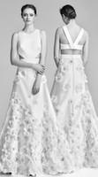 Wholesale Lace Wedding Dress Princess Cut - side cut out embellished skirt modern wedding dresses 2018 viktor and rolf spring bridal sleeveless jewel neck a line wedding gowns