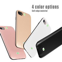 Wholesale case iphone rocks - 4000mah Power Bank Phone Charger Battery Case Slim External Battery Cover for phone 6 6s phone 7 with Retail Package