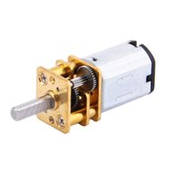 Wholesale 12v Dc Geared Mini Motors - 5pcs DC 12V 300RPM Micro Electric Full Metal Speed Mini Reduction Metal Gear Motor Shaft Diameter Reduction Gear Motor