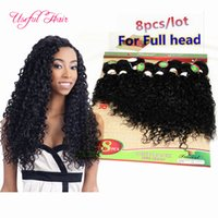 Wholesale Kinky Curly Braiding Weave - Brazilian hair deep wave curly human braiding hair extensions 220g weaves closure malaysian hair human bundles kinky curly african american