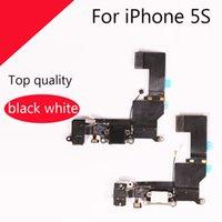kablo anten konnektörü toptan satış-Şarj Dock Kulaklık Jakı Mic Konnektör Anten Flex Kablo iPhone 5 S tarafından DHL tarafından Ücretsiz Kargo