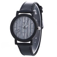 Wholesale Retro Womens Leather Wrist Watch - Fashion simple dial design retro vintage watch casual unisex mens womens ladies leather dress quartz wrist watches for women men