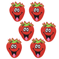 Wholesale Strawberry Iron Patch - 10 pcs Smiling Strawberry patches for clothing iron embroidered patch applique iron on patches sewing accessories for clothes