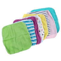 All'ingrosso-Baby Face Washers Asciugamani cotone Wipe Wash Cloth 8pcs / Pack