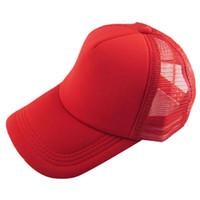 ingrosso visiere vuote-All'ingrosso- Oioninos unisex attraente casual moda uomo donna estate cappello solido berretto da baseball Trucker maglia visiera bianca cappelli regolabile