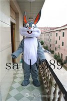Wholesale Mascot Costume Bugs Bunny - 2017 Bugs Bunny Cartoon Mascot Costume high-quality Adult Size fancy dress party carnival parade free shipping
