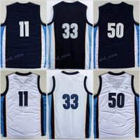 Wholesale El Sound Shirt - Discount 2017 33 Marc Gasol Jersey 1970 Sounds Red Navy Blue White Throwback 50 Zach Randolph Shirt Uniform 11 Mike Conley High Quality
