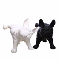 Wholesale Black Mannequin Body - Plastic French Bulldog Dog Mannequin For Pet Display EMS Shipping Black And White Two Color One Piece Per Box