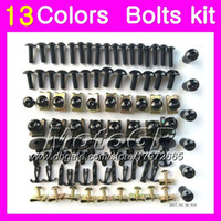 Wholesale fairing bolts zx for sale - Group buy Fairing bolts full screw kit For KAWASAKI NINJA ZX250R ZX R Body Nuts screws nut bolt kit Colors