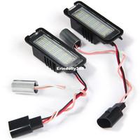 Wholesale replace car light bulb - 1 Pair 2pcs Car License Plate Lights JMD 3528 White Light 18 LEDs Lamp Replace Bulb for VW Golf 4 Eos 06