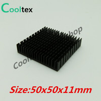 Wholesale electronic processors resale online - Special offer x50x11mm Aluminum HeatSink Heat Sink radiator for electronic Chip LED RAM COOLER cooling