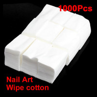 Wholesale Makeup Remover Cotton Pad - 1000 Pcs Nail Wipe Cotton Makeup Wipes Cotton Pads For Nail Art Polish Acrylic Gel Tips Remover Cleaner Make Up Cotton Pads