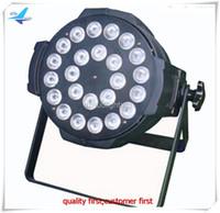 Wholesale Led Par Lights China - 6Xlot fly case led par light 6in1 24x18w par 64 rgbwa uv china led par