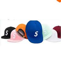 Wholesale Snapback S - Good Quality Fashion New 8 Styles bone Casquette S letter Caps Hats Adjustable Suprem Snapback Baseball Hip Hop Sports Cap Hat Cheap Sale