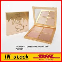 Wholesale Wet Satin - NEW HOT ! kylie jenner Bronzers & Highlighters kylie the wet set palette 4 colors highlight palette DHL free shipping