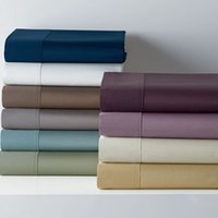 Wholesale Pure Satin Sheets - 8 Colors Pure cotton satin sheets bedding flat sheet full queen king size For home and Hotel