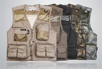 Wholesale Camera Man Vest - Wholesale- Vest Men Jacket Photography Director Camera Jacket Vests Waistcoat Plus Size M L XL 2XL