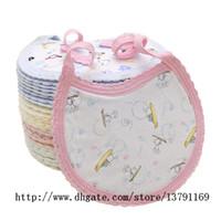 ingrosso grembiule neonato-Bavaglino di saliva di alimentazione del pranzo del cotone molle neonato del bambino Grembiule degli asciugamani del grembiule Asciugamani di cotone organico dell'asciugamano di lavaggio del bambino di modo