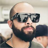 Wholesale Male Fashion Sunglasses - HOt Square Black Sunglasses Men UV400 Lens Cool Sun Glasses For Men 2017 Fashion Shades Oculos Male Brand Designer Lunette