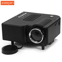 Wholesale original mini sd card - Wholesale-New Original Portable UC-40 HD 400 Lumens Home Mini LED Projector LCD Projector Support AV SD VGA HDMI SD Card Electronic Zoom