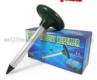 Wholesale Gardening Pest Control - Solar Power LED Ultrasonic Gopher Mole Snake Mouse Pest Repeller Control Garden Yard Tools free shipping MYY