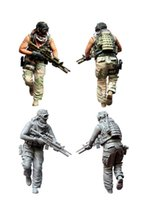 Figures special operators - scale resin model figures kit US special forces operators seven
