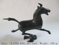 Wholesale Chinese Horse Bronzes - Elaborate Ancient Chinese bronze statue - The horse stepped on the swallow