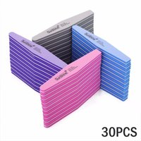 Wholesale Diamond Grit - 30pcs Wholesale Sunshine Nail Art Files 100 180 Grit Slim Sanding Set Diamond Nail Buffers Polish Gel Tools Manicure Nail Files