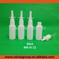 Wholesale Wholesale Nasal Atomizers - Free Shipping 50pcs lot 30ml plastic Nasal Spray Pumps bottle, 1oz Oral Spray Applicators,Nasal Atomizers with 18 410 nasal pump
