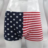 mens vermelho natação cuecas venda por atacado-Mens Swim Briefs Trunks Roupa Interior G8424 EUA Bandeira Estrela Stripes Azul Vermelho impresso nylon spandex