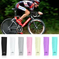 Wholesale Wholesale Arm Cooler Golf - 10 Pair Unisex Women and Men's Cooling Arm Sleeve Cover Sun Protection Gym Workout Tattoo