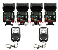 Wholesale Mini Remote Receiver Transmitter - Wholesale- AC 220 V 1 channel RF mini Wireless Remote Control 4 pcs Receiver & 2 pcs transmitter waterproof 4 button