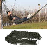 Wholesale Mesh Hammocks - Wholesale- 1Pc Portable Nylon Sleeping Hammock Hamaca Hamac Garden Outdoor Camping Travel furniture Mesh Hammock Swing Sleeping Bed HangN