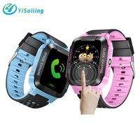 Wholesale Gsm Gprs Watch Phone - DHL Y21 Smart Watch Phone Children Kid Child GPS SmartWatch Touch screen SOS GSM GPRS GPS LBS Locator Tracker for iphone ios android phone